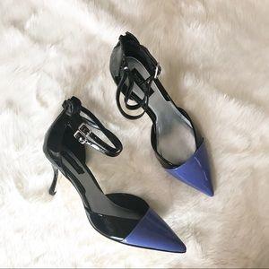 White House Black Market Patent Leather Heels NWOB